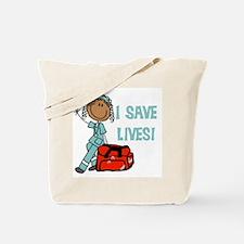Female African American EMT Tote Bag