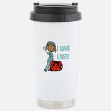 Female African American Stainless Steel Travel Mug