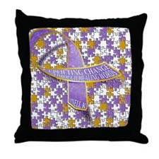 Putting all the puzzles back together Throw Pillow