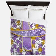 Putting all the puzzles back together Queen Duvet