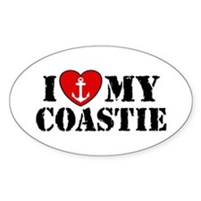 I Love My Coastie Oval Decal