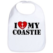 I Love My Coastie Bib