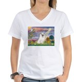 Samoyed Womens V-Neck T-shirts