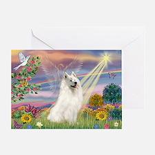 Cloud Angel & Samoyed Greeting Card