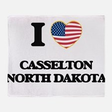 I love Casselton North Dakota Throw Blanket