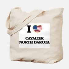 I love Cavalier North Dakota Tote Bag