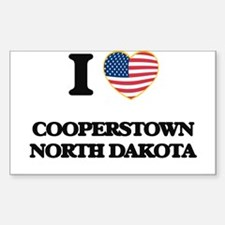 I love Cooperstown North Dakota Decal