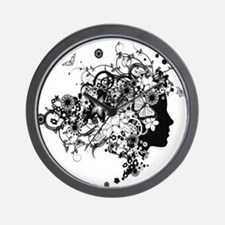 Profile Woman Wall Clock