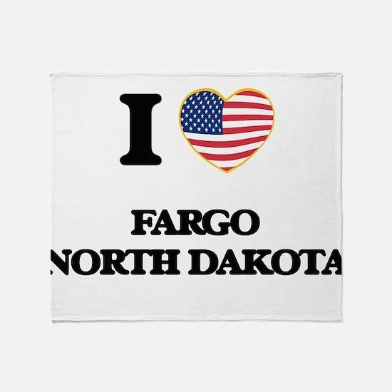 I love Fargo North Dakota Throw Blanket