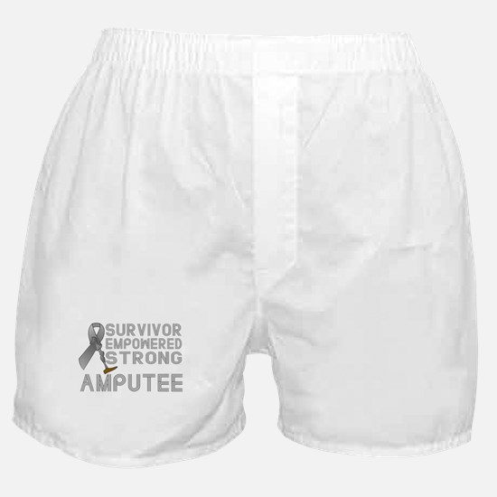 Amputee- Survivor, Empowered, Strong Boxer Shorts