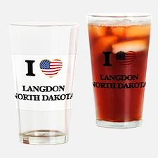 I love Langdon North Dakota Drinking Glass