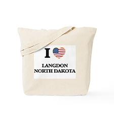 I love Langdon North Dakota Tote Bag