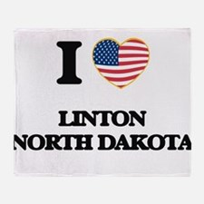 I love Linton North Dakota Throw Blanket