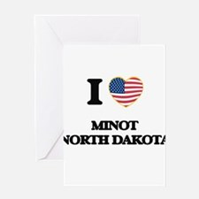 I love Minot North Dakota Greeting Cards