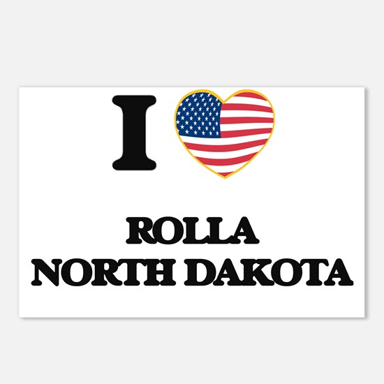 I love Rolla North Dakota Postcards (Package of 8)