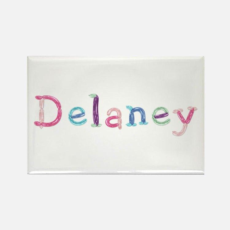 Delaney Princess Balloons Rectangle Magnet
