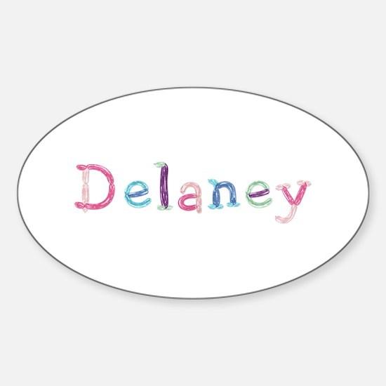Delaney Princess Balloons Oval Decal