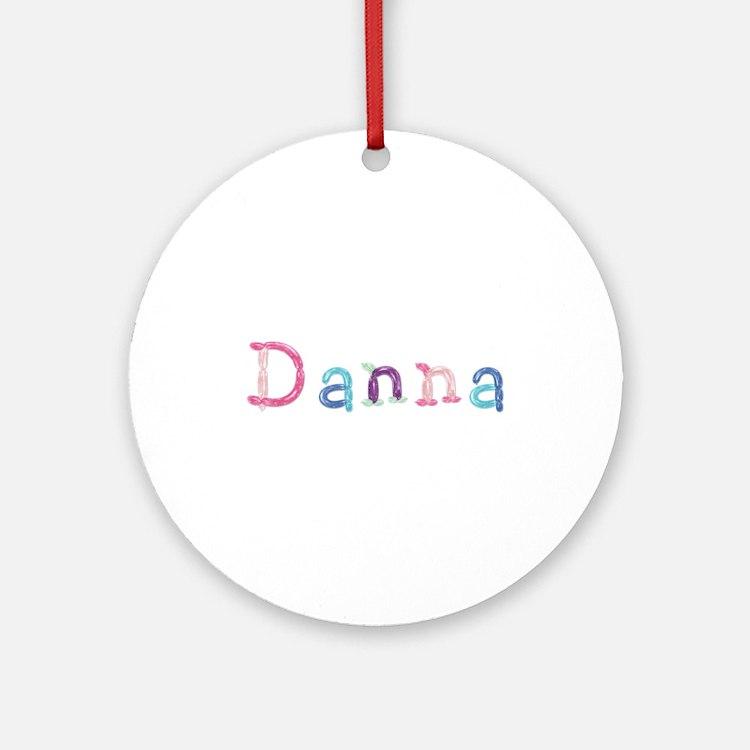 Danna Princess Balloons Round Ornament