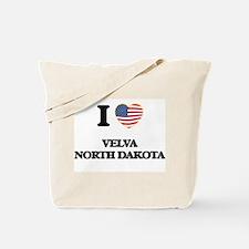 I love Velva North Dakota Tote Bag