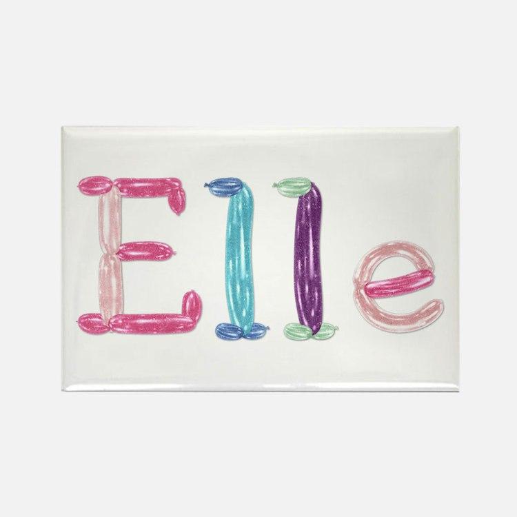 Elle Princess Balloons Rectangle Magnet