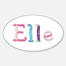 Elle Princess Balloons Oval Decal