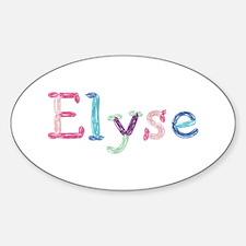 Elyse Princess Balloons Oval Decal