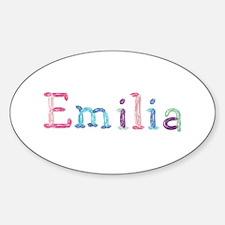 Emilia Princess Balloons Oval Decal