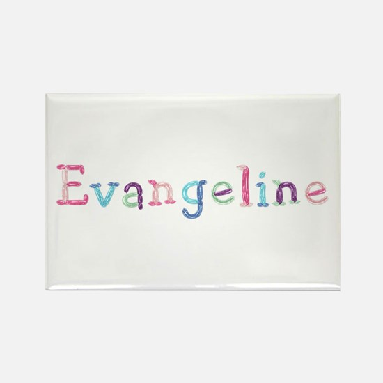 Evangeline Princess Balloons Rectangle Magnet