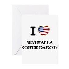 I love Walhalla North Dakota Greeting Cards
