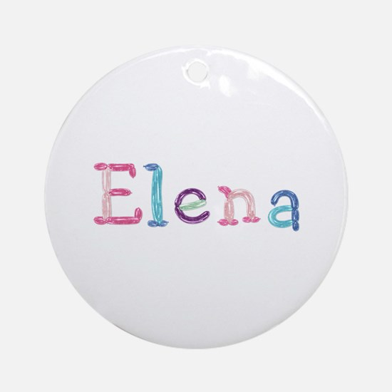 Elena Princess Balloons Round Ornament