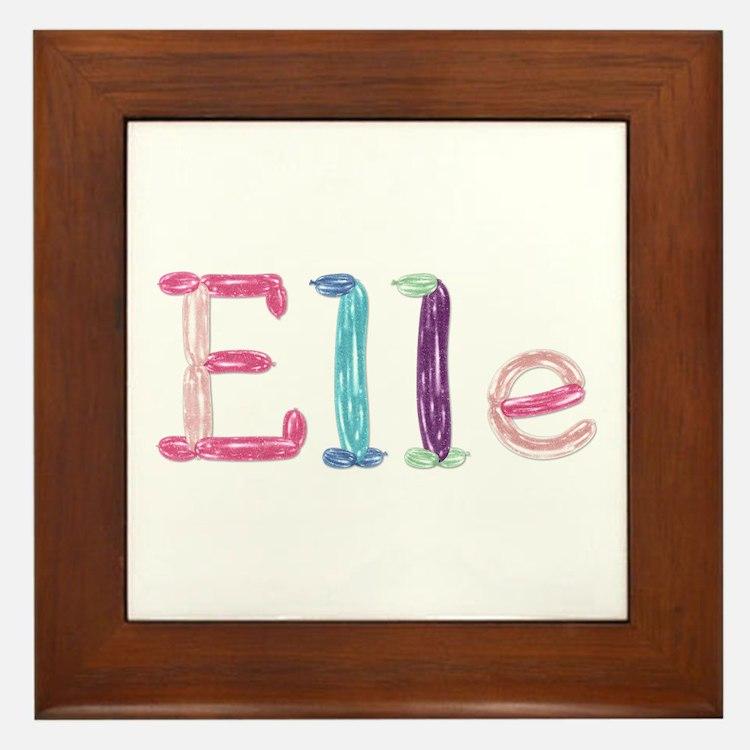 Elle Princess Balloons Framed Tile