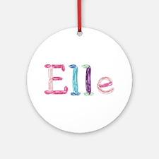 Elle Princess Balloons Round Ornament