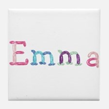 Emma Princess Balloons Tile Coaster