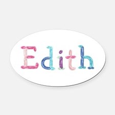 Edith Princess Balloons Oval Car Magnet