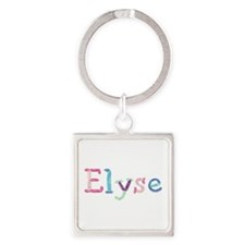Elyse Princess Balloons Square Keychain
