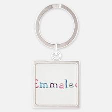 Emmalee Princess Balloons Square Keychain