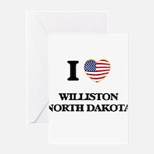 I love Williston North Dakota Greeting Cards