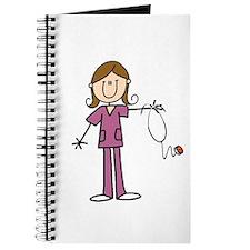 Brunette Female Nurse Journal