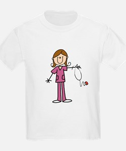 Brunette Female Nurse T-Shirt
