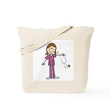 Brunette Female Nurse Tote Bag