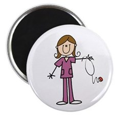 "Brunette Female Nurse 2.25"" Magnet (10 Magnet"