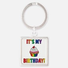 It's My Birthday! Square Keychain