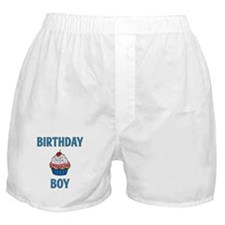 Birthday Boy Blue Boxer Shorts