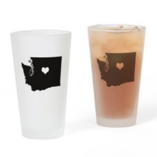Heart in Washington State Drinking Glass