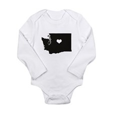 Heart in Washington State Body Suit