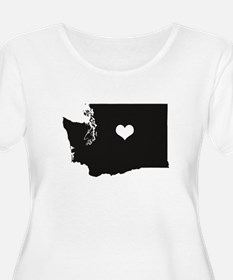 Heart in Washington State Plus Size T-Shirt