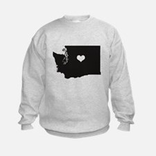 Heart in Washington State Sweatshirt