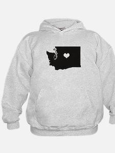 Heart in Washington State Hoodie