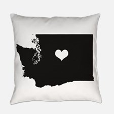 Heart in Washington State Everyday Pillow