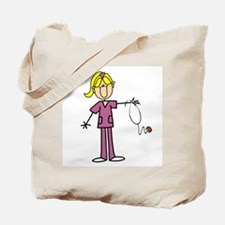 Blond Female Nurse Tote Bag